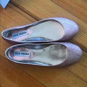 Steve Madden Heaven Pink Glitter ballet flats